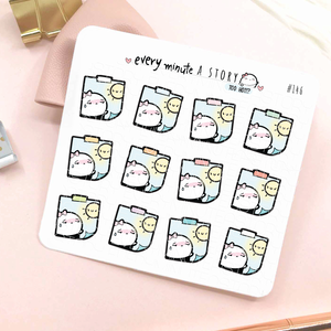 Too hot stickies weather planner stickers