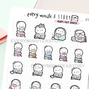 Always fully booked- Beanie reading planner stickers