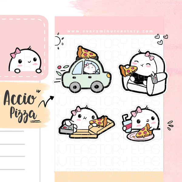 Beanie Pizza night planner stickers - Every Minute A Story