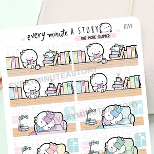 One more chapter banners, reading planner stickers