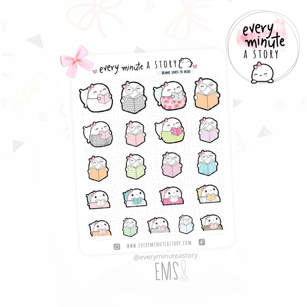 Beanie reading glasses planner stickers