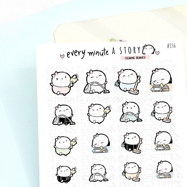 Cleaning, dishes, chores planner stickers