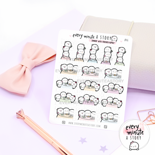 Dinner/lunch with friends, girls night out planner Stickers