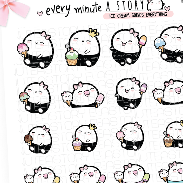 Ice cream eating summer Beanie planner stickers- LOW STOCK!
