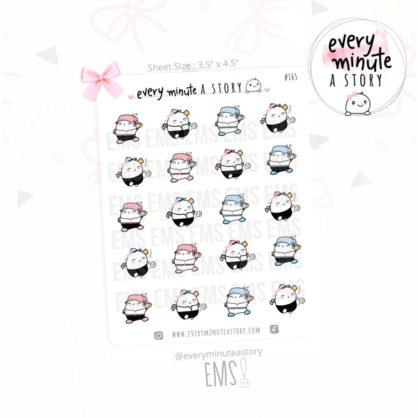 Baseball Beanie sports planner Stickers - Every Minute A Story