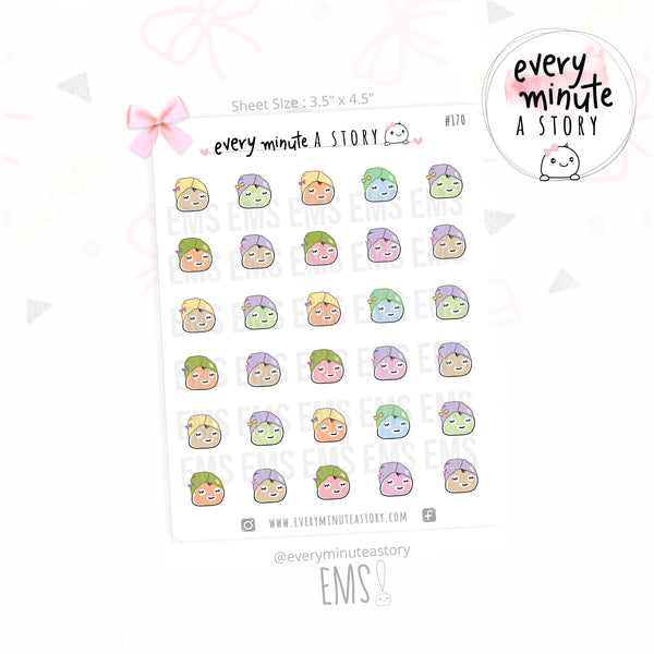 Face mask/pampering planner stickers - Every Minute A Story