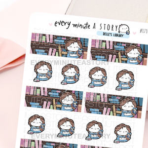Belle's Library banners- Beanie reading planner stickers
