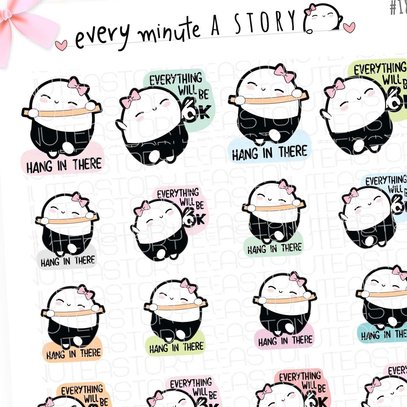 Revamped Motivational Beanies- Vol.2 planner stickers