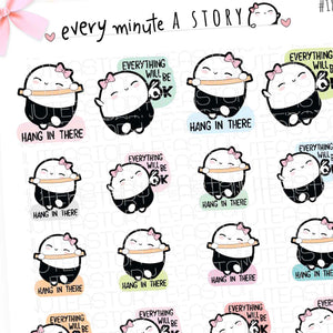 Revamped Motivational Beanies- Vol.2 planner stickers-LOW STOCK!