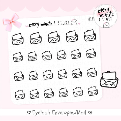 Envelope/Happy Mail doodle planner Stickers - Every Minute A Story