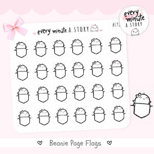 Beanie Flag doodle planner Stickers - Every Minute A Story