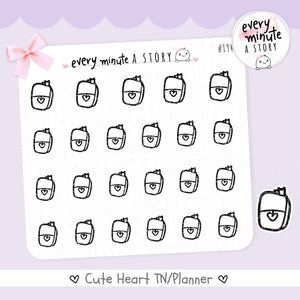 Planner doodle Stickers - Every Minute A Story