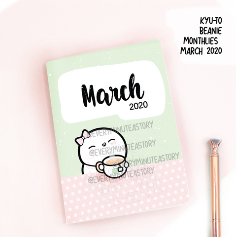 March 2020, Kyu-to Beanie Monthlies | Printed Insert, Inserts
