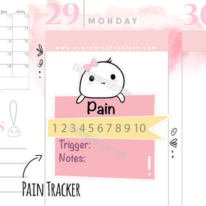 Pain tracker planner stickers - Every Minute A Story