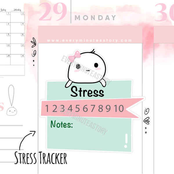 Stress tracker planner stickers - Every Minute A Story