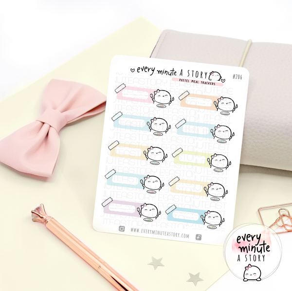 Pastel meal trackers, planner stickers- LOW STOCK!