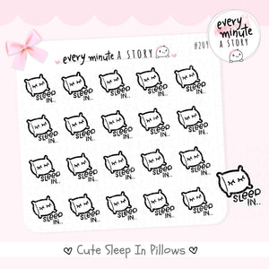 Sleep in pillow doodle Planner Stickers - Every Minute A Story