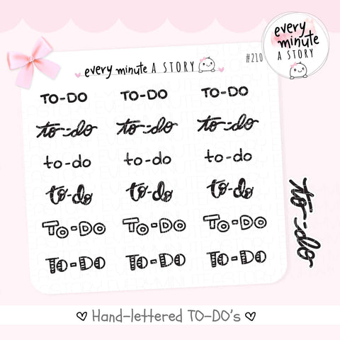 Hand-lettered TO-DO Planner Stickers - Every Minute A Story