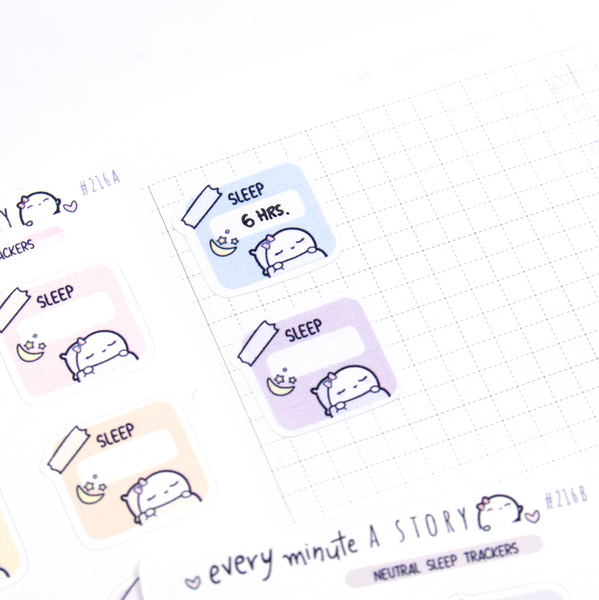 Sleep trackers for Hobonichi weeks, hobo weeks- LOW STOCK!