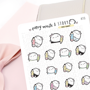 Pencil Beanies, school, work, B2S planner stickers