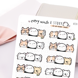 Dog Beanie peekaboo dividers planner stickers