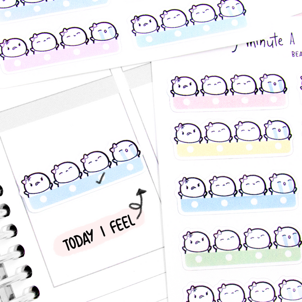 Pastel mood trackers, planner stickers- LOW STOCK!