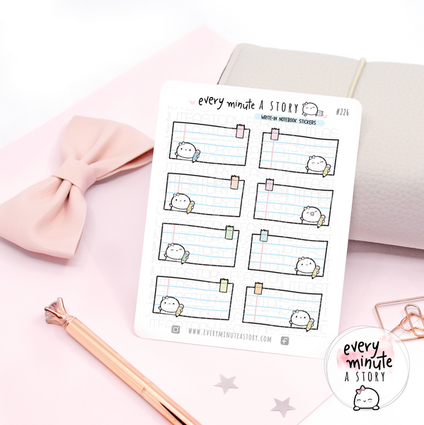 Beanie write in notebook planner Stickers