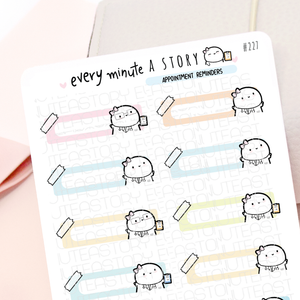 Write-in Doctor appointment trackers- pastel