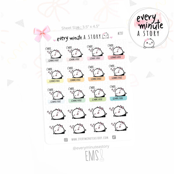 Beanie gimme a hug planner stickers - Every Minute A Story