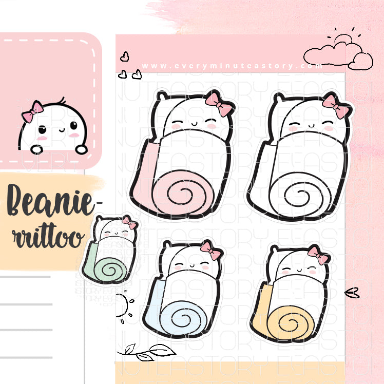 Beanie-rrito wrapped up planner stickers - Every Minute A Story
