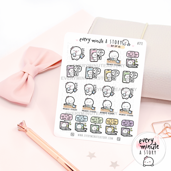 Buy/organize stickers, EMAS new releases reminders, sticker shopping