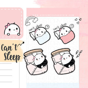 Beanie can't seep, blanket planner stickers - Every Minute A Story
