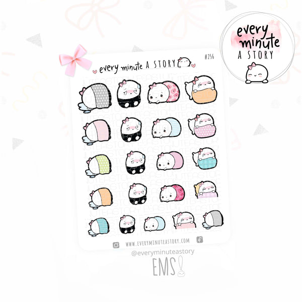 Beanie sad day, hard day planner stickers