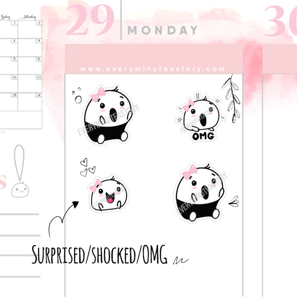 Beanie surprise, OMG, shocked planner stickers - Every Minute A Story
