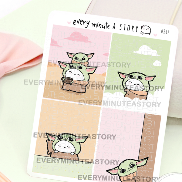 Baby Yoda full Boxes stickers-LOW STOCK!