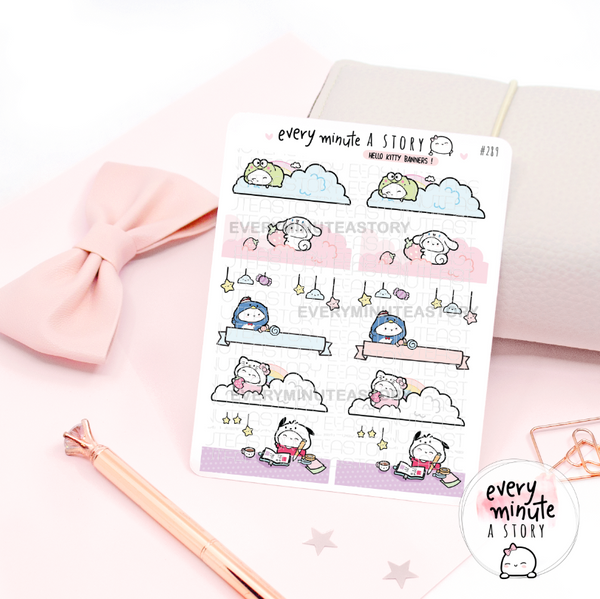 Hello Kitty and Friends banners stickers