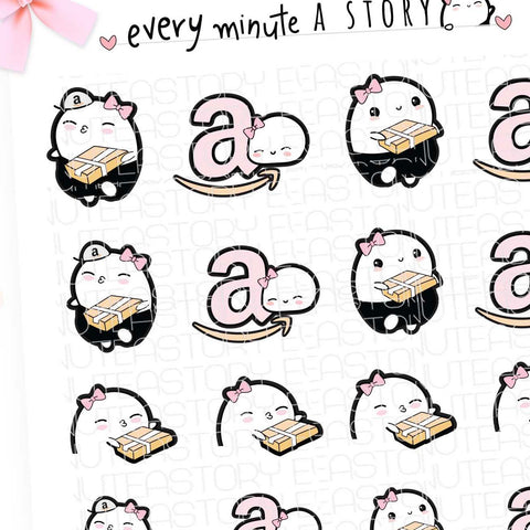 Amazon shopping parcel planner Stickers- LOW STOCK!