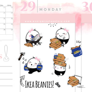 Beanie Ikea shopping planner stickers - Every Minute A Story
