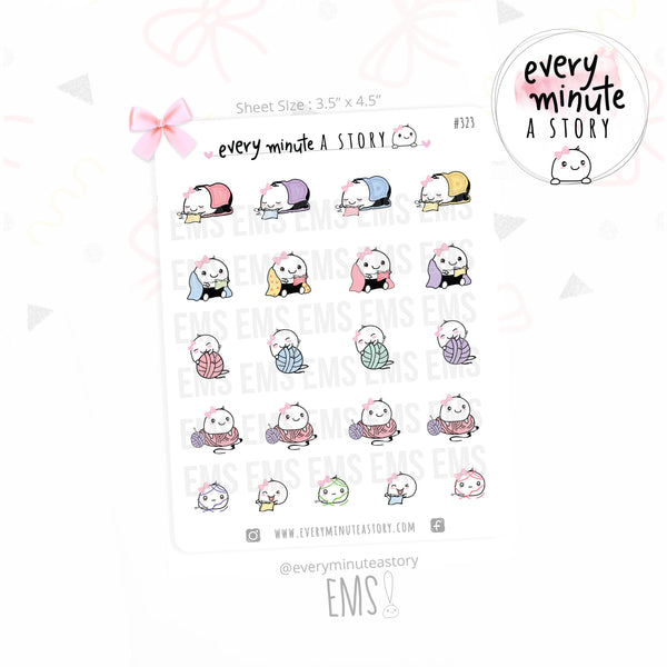 Beanie Crocheting planner Stickers - Every Minute A Story