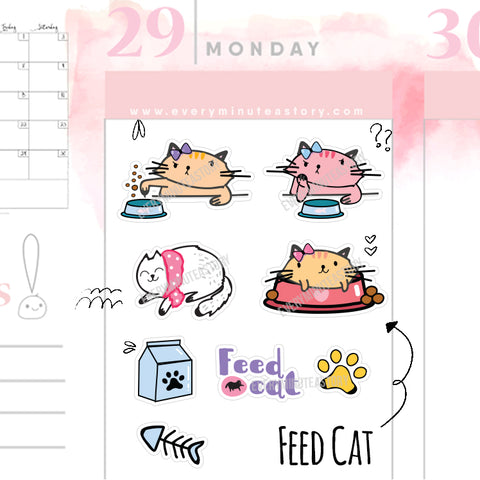Feed Cat planner Stickers - Every Minute A Story
