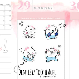 Beanie Dentist Teeth Dental Planner Stickers - Every Minute A Story