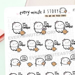 You are one tough cookie Beanies, motivational stickers