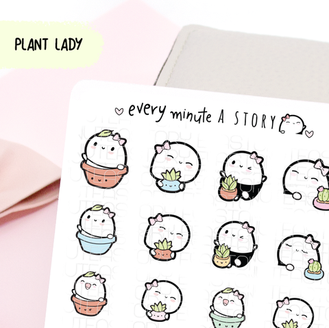 Pet plants/succulents Beanie planner stickers- LOW STOCK!