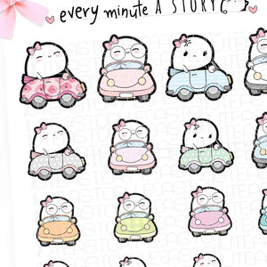 Driving/road rage Beanie planner stickers