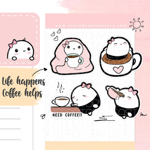 Beanie hot coffee/need coffee planner stickers-LOW STOCK!
