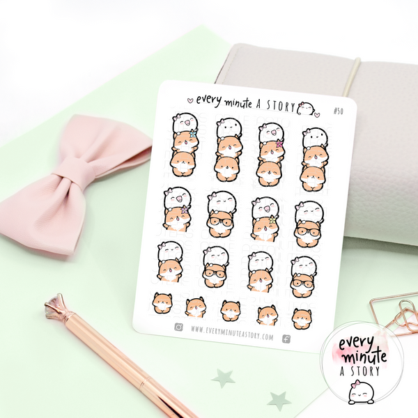 Fox and Beanie stack planner stickers