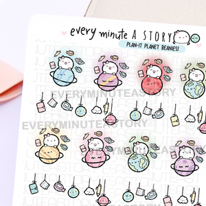 Plan-it planet Beanie planner stickers, space