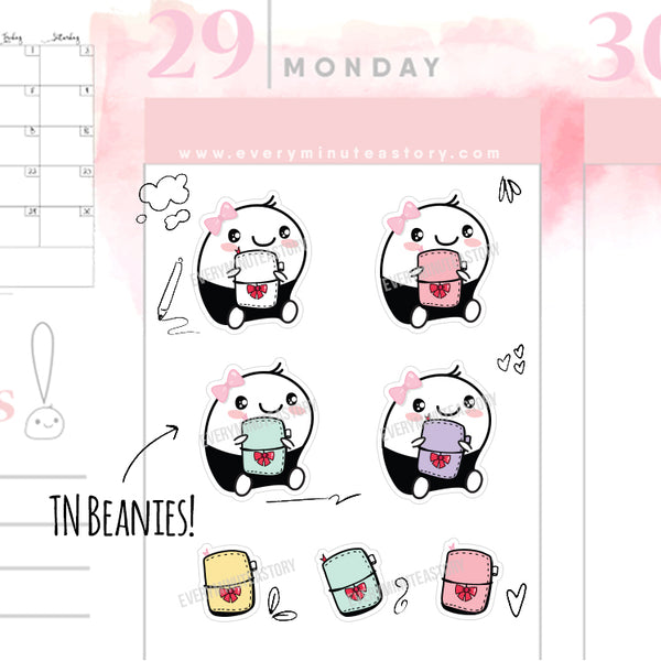Beanie travellers notebook/planner stickers - Every Minute A Story