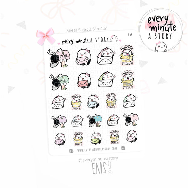 Beanie happy mail planner stickers - Every Minute A Story