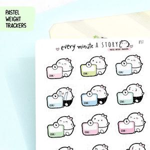 Weight tracker Beanie planner stickers- LOW STOCK!